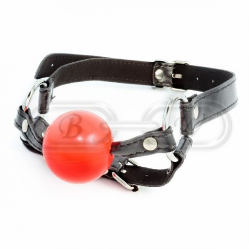 Silicone Ball Gag with Chin Strap