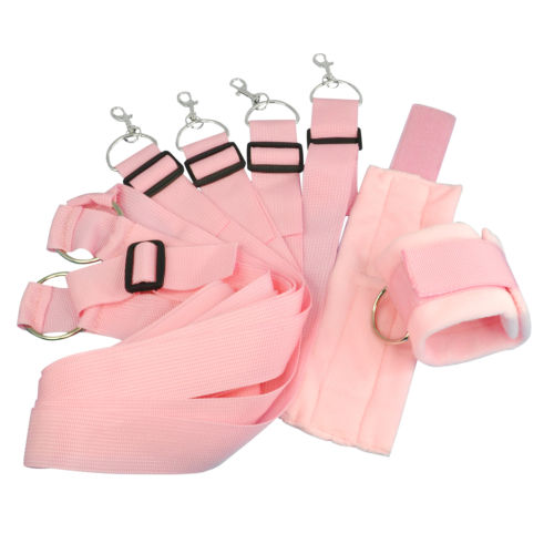 Pink Fur Under Bed Restraint