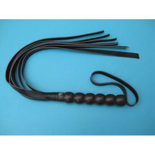 Black Faux Leather Bondage Flogger