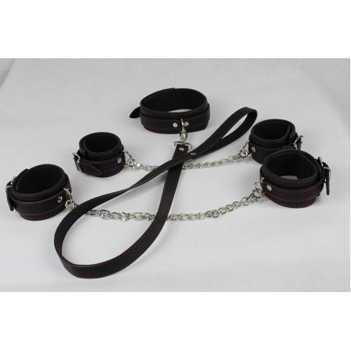 Collar, Wrist & Ankle Cuffs Set