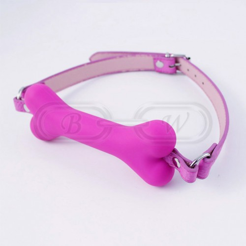 Pink Faux Leather Bondage Bit Gag