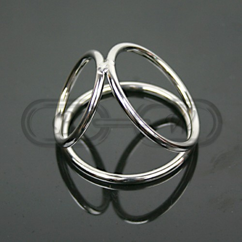 Stainless Steel Triple Cock Ring/Cage