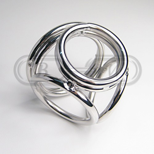 Stainless Steel Quad Cock Cage/Ring