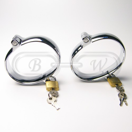 Small Chrome Plated Ankle Cuffs