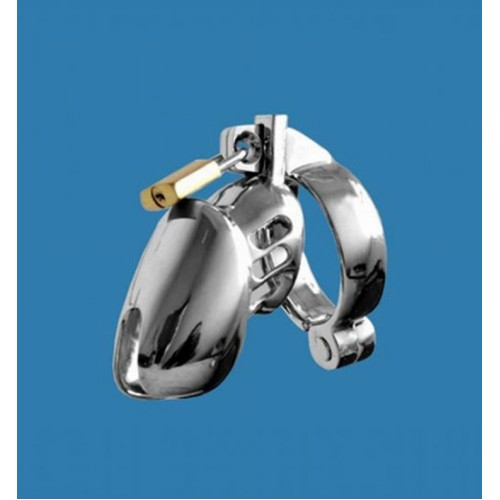 Chrome Plated Steel Chastity Cage