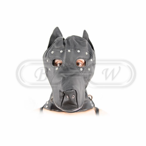 Dog Hood - Black Faux Leather