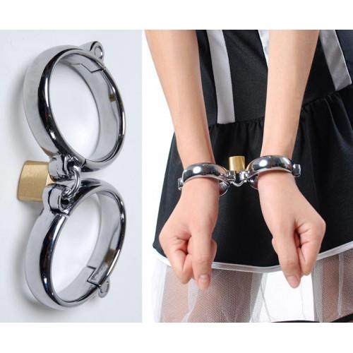 Wrist Cuffs (Chrome Plated) (Large)