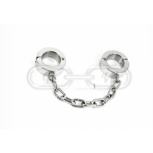 Extra Heavy Stainless Steel Ankle Cuffs (Large)