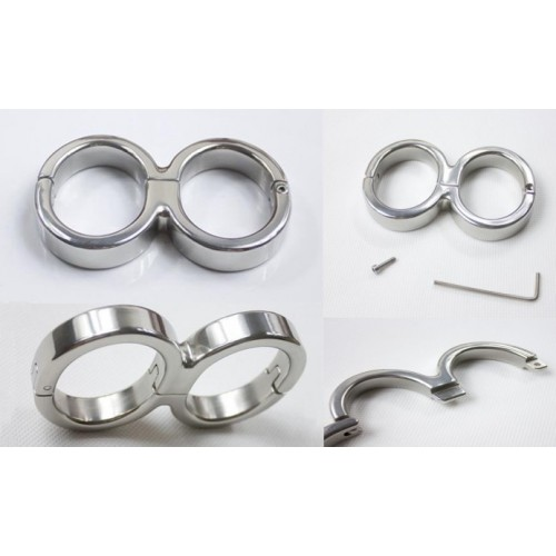 Stainless Steel Wrist Cuffs (Large)