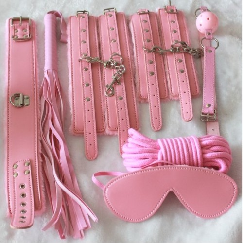 Pink Fur Bondage Set