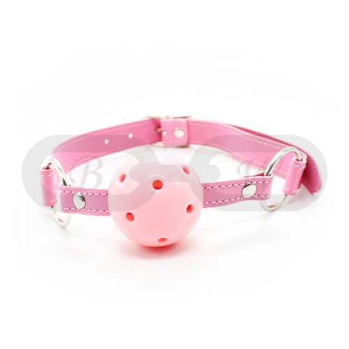 Pink Faux Leather Ball Gag