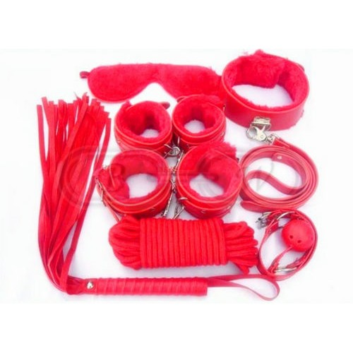 Red Fur Bondage Set