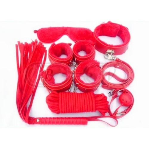 Red Fur Bondage Set
