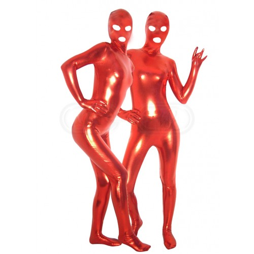 Full Body Red Zentai Suit With Eye & Mouth Holes