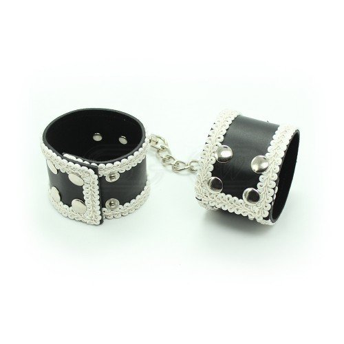 Lace Trimmed Press Stud Ankle Cuffs