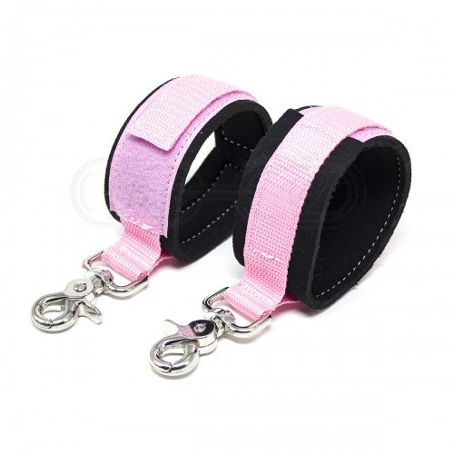 Strong Nylon Pink Hook and Loop Fastening Wrist Cuffs