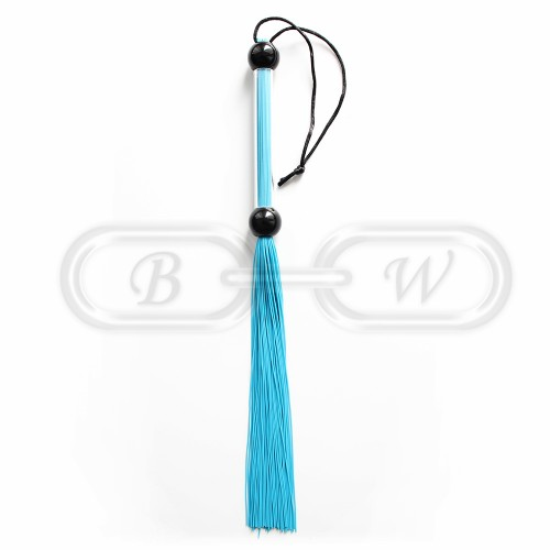 Blue Rubber Tailed Bondage Flogger