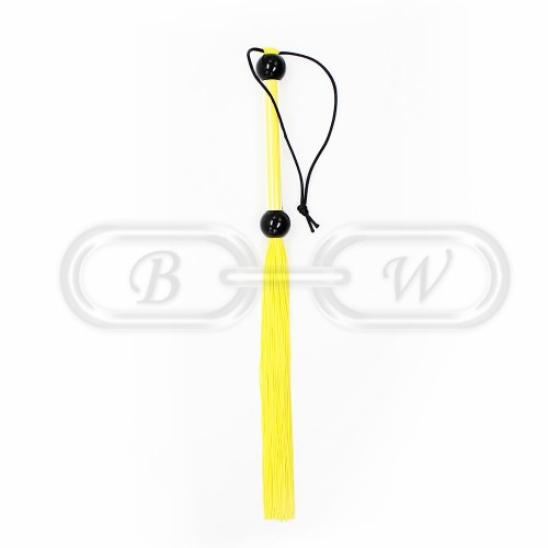Yellow Rubber Tailed Bondage Flogger
