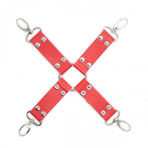 Red Faux Leather 4-Way Hogtie