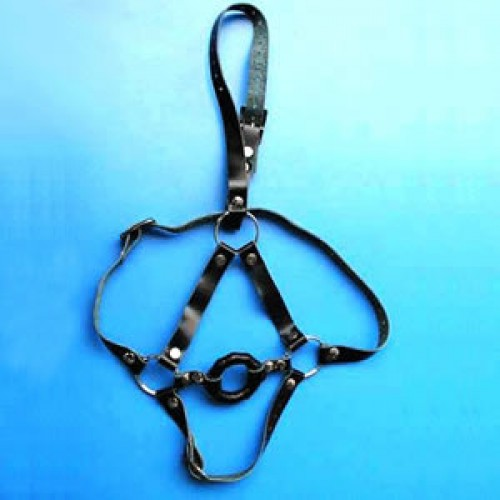 Black O-Ring Gag With Harness