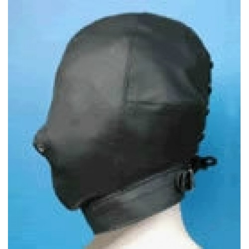 Faux Leather Bondage Hood