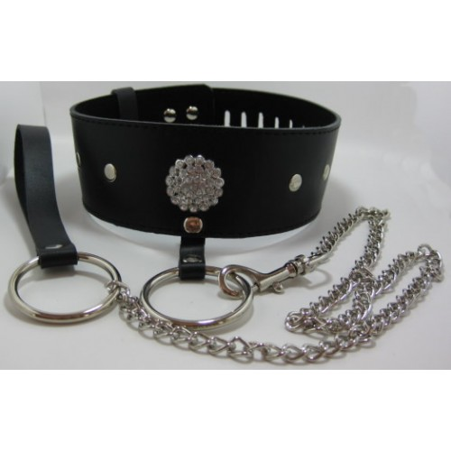 Faux Leather Bondage Collar
