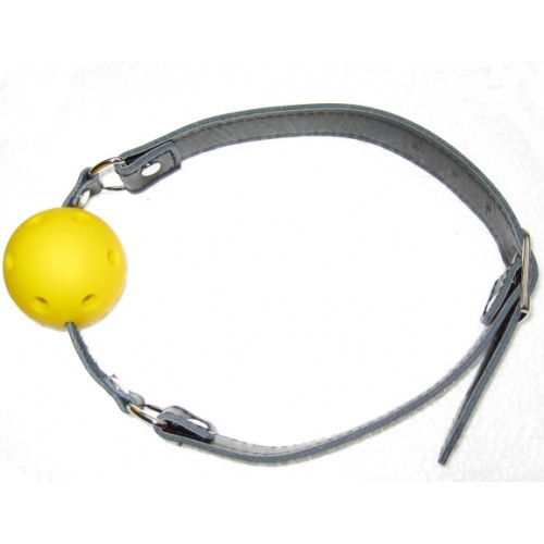 Faux Leather Breathable Ball Gag